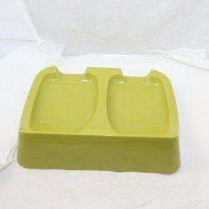 Vintage Tupperware spoon rest green